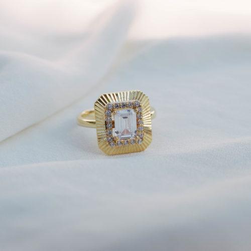 טבעת לאישה כסף טהור בציפוי זהב